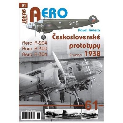 Československé prototypy 1938 Aero A-204,A-300,A-304...