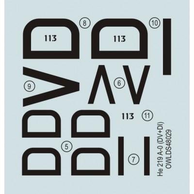 He 219 A-019, DV+VI