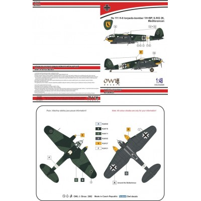 1/48 He 111 H-6 night torpedo-bomber