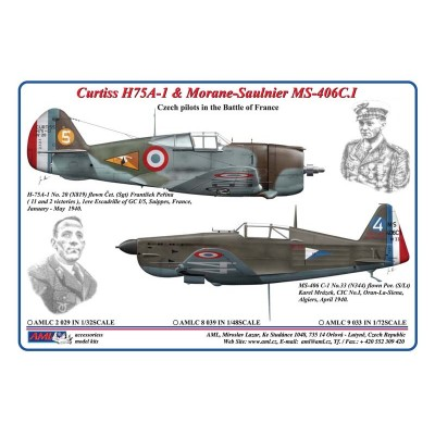 1/72 Curtiss H75A-1 & Morane-Saulnier MS-406C.I