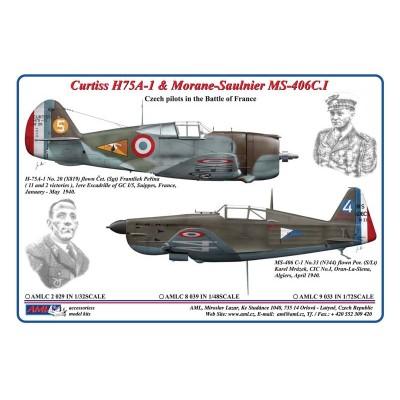 1/48 Curtiss H75A-1 & Morane-Saulnier MS-406C.I
