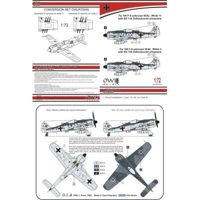 1/72 Fw 190 F-8 with SG 116 Zellendusche armament