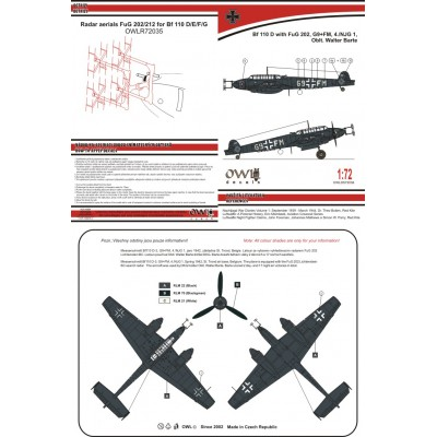 1/72 Bf 110 D with FuG 202