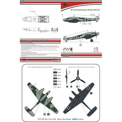 1/72 Bf 110 E Nachtbomber