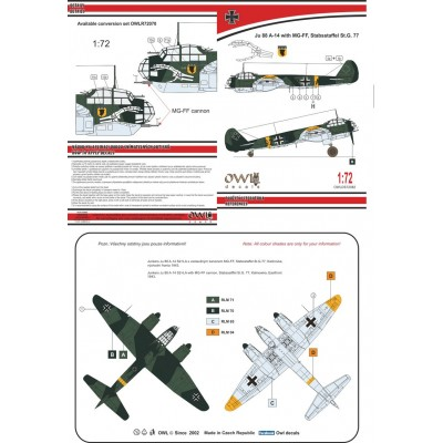 1/72 Ju 88 A-14 with MG-FF St. G. 77
