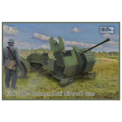 1/72   Flak 38 German Anti Aircraft Gun (2 in the box)