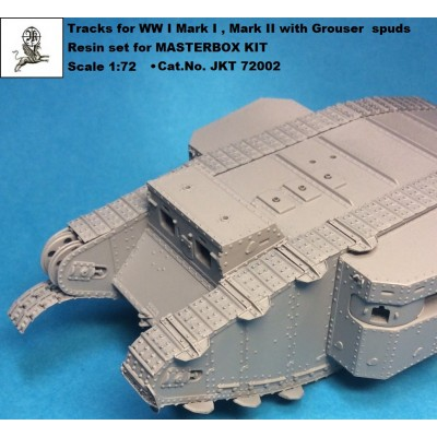 1/72 Tracks for WW I tank MARK I / II + Grouser spuds