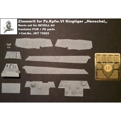 1/72 Zimmerit for Pz.Kpfw. VI Kingtiger + PE grills