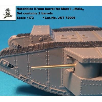 1/72 Hotchkiss 57 mm barrel for Mark I ,,Male,,