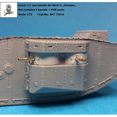 1/72 Lewis 7,7 mm barrels for Mark II ,,Female,, ( PUR +...