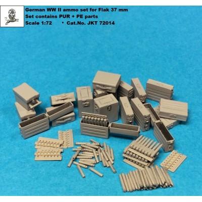 1/72 German WW II Flak 37 mm ammo set ( PUR + PE parts )