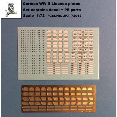 1/72 German WW II licece plates ( PE parts + Decal)