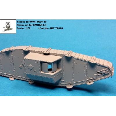 1/72 Tracks for WW I tank MARK IV + Grouser spuds ( PUR...