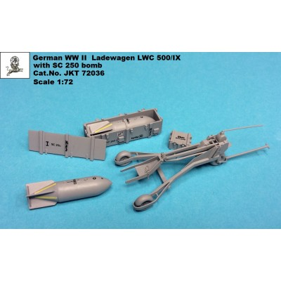 1/72 German WW II Luftwaffe Ladewagen LWC500/IX with SC...