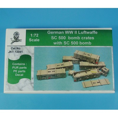 1/72 German WW II Luftwaffe SC 500 bomb with crates ( PUR...