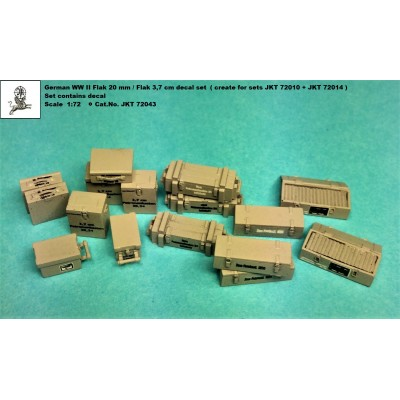 1/72 German WW II Flak 20/37mm decals for ammo boxes (...