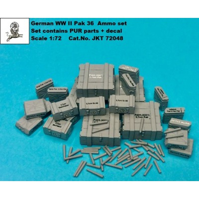 1/72 German WW II Pak 36 ammo set - ( PUR parts + decal )