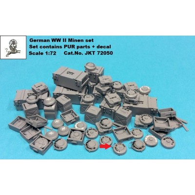 1/72 German WW II Minen set - ( PUR parts + decal )