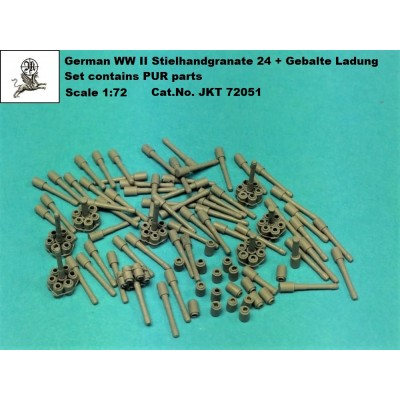 1/72 German WWll Stielhandgranate 24 + Gebalte Ladung