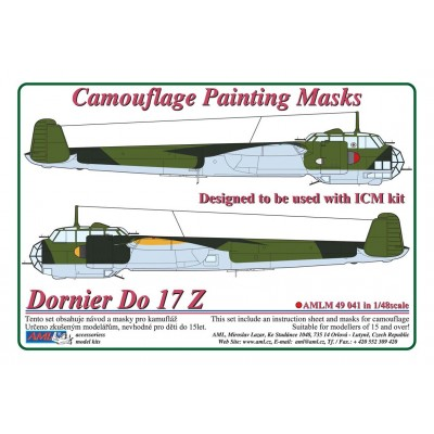 1/48 Dornier Do 17 Z - Camouflage Painting  Masks