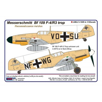 1/32 Messerschmitt Bf 109 F-4/R3 reconnaissance (Aufklärer)