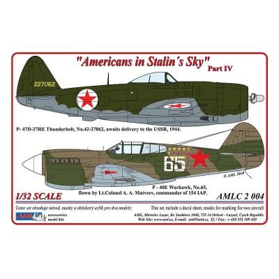 1/32  P - 40E & P-47D-27 - Americans in Stalin's Sky,...