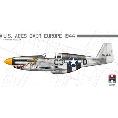 1/72 P-51B Mustang U.S. Aces over Europe 1944 - Limited...