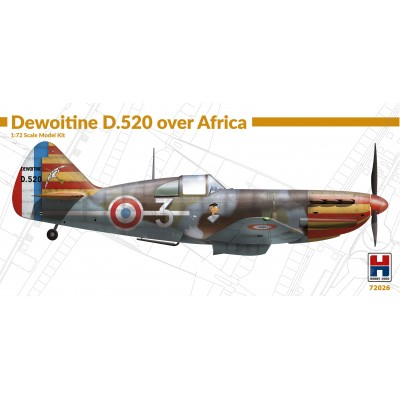 1/72 Dewoitine D.520 over Africa - Limited Edition