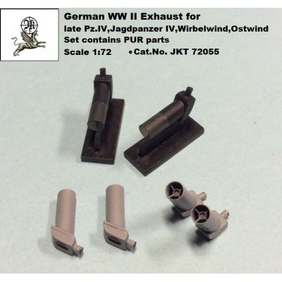 1/72 Exhausts for late Pz.IV, Jagdpanzer IV....