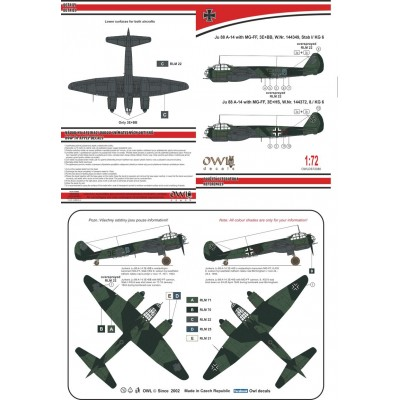 1/72 Ju 88 A-14 with MG-FF KG 6