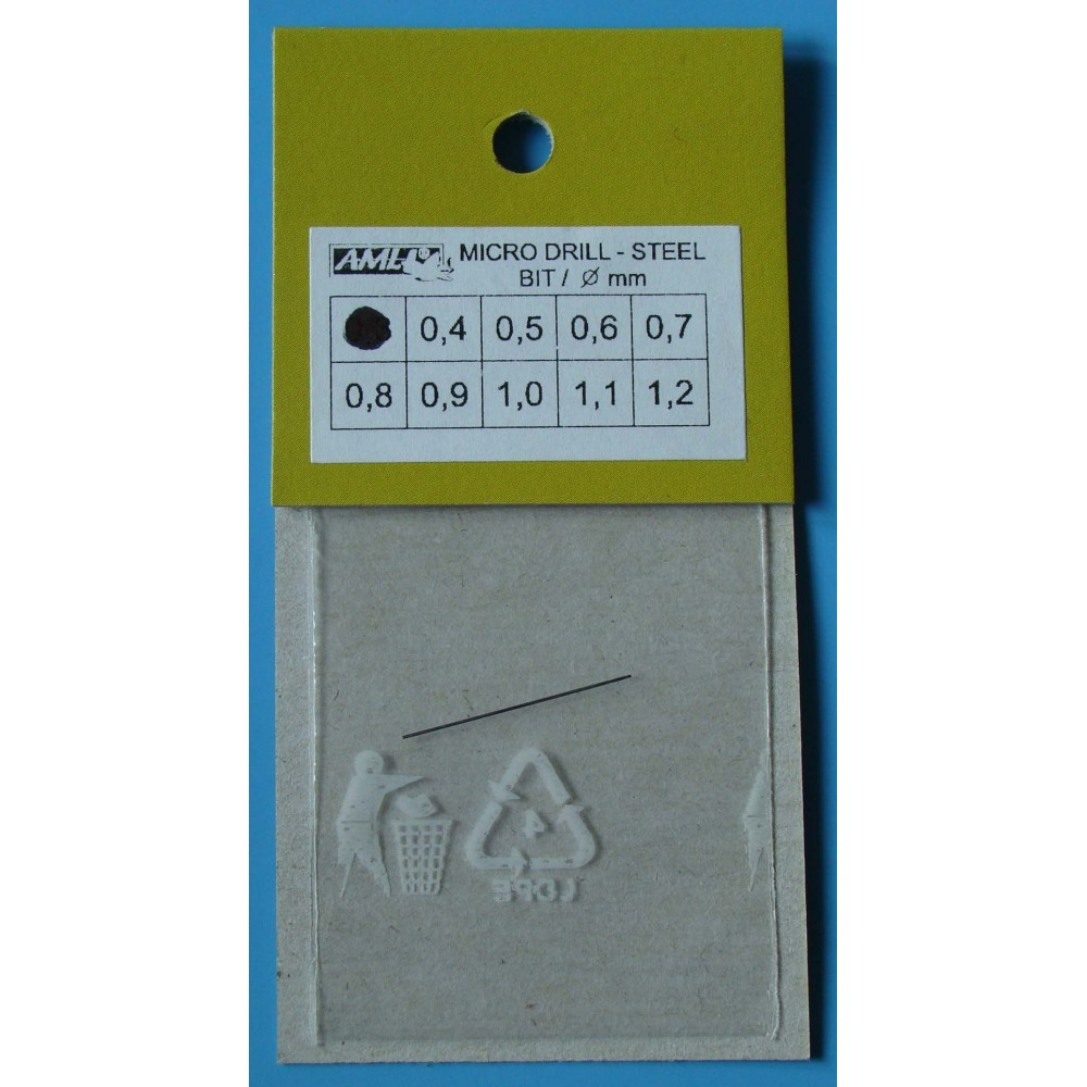 vrták 0,3mm - ocel