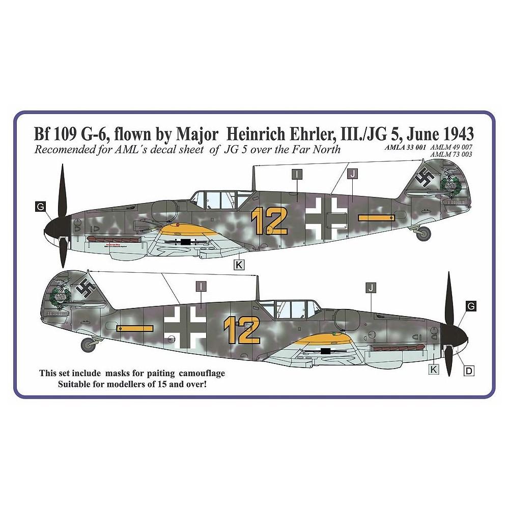 Camouflage masks - Bf 109 G-6 Ehrler