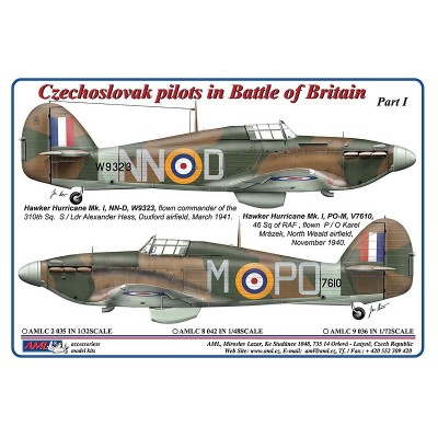 1/72 Czechoslovak pilots in Battle of Britain