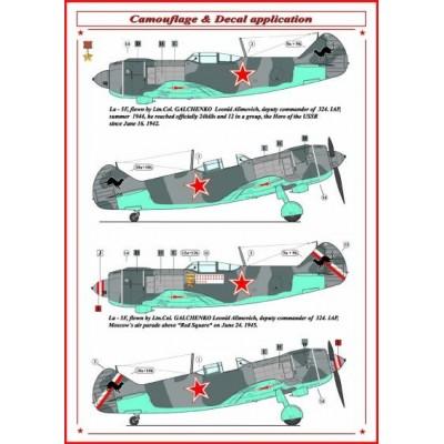 Soviet Aces in Lavochkin La-5 F's
