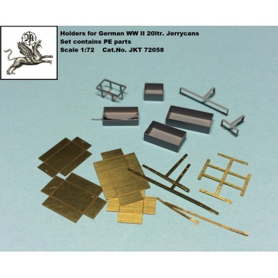 1/72 Holders for German WW II 20ltr. Jerrycans