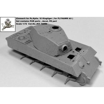 1/72 ,,Zimmerit for Kingtiger ( for FLYHAWK kit ),,