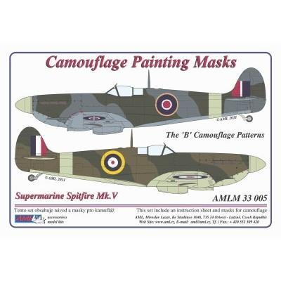 S.Spitfire Mk.V - Camouflage Paintig  Masks
