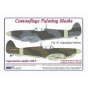 """S.Spitfire Mk.V - Camouflage Paintig  Masks  """" B"""""""