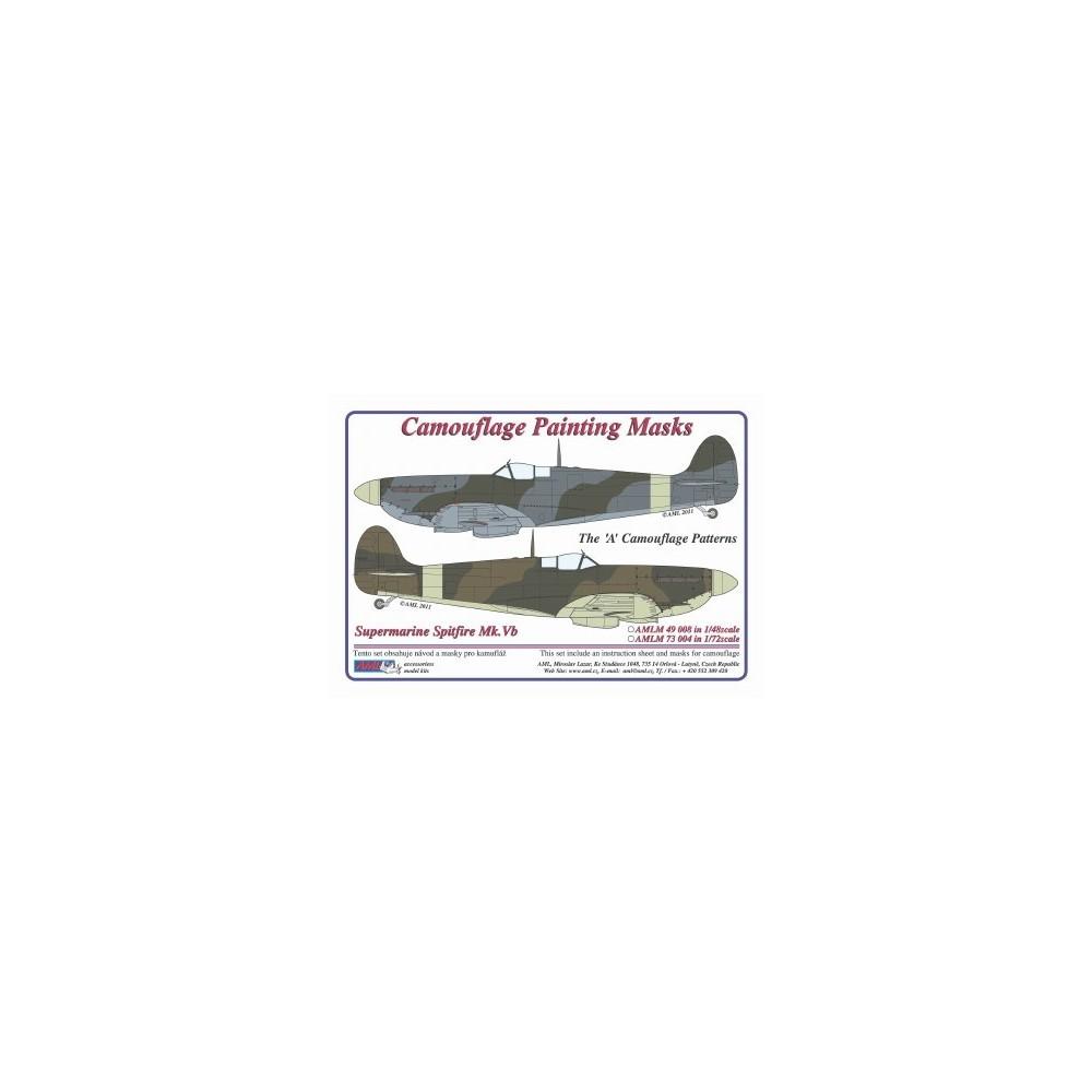 """Camouflage Paintig  Masks – S.Spitfire Mk.V  """"A"""""""