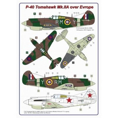 P-40 Tomahawk Mk.IIA over Evrope