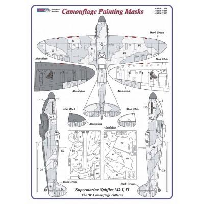 "S.Spitfire Mk.I,II  ""B"" - Camouflage Paintig  Masks"