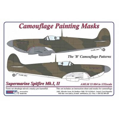 S.Spitfire Mk.I,II - Camouflage Paintig  Masks
