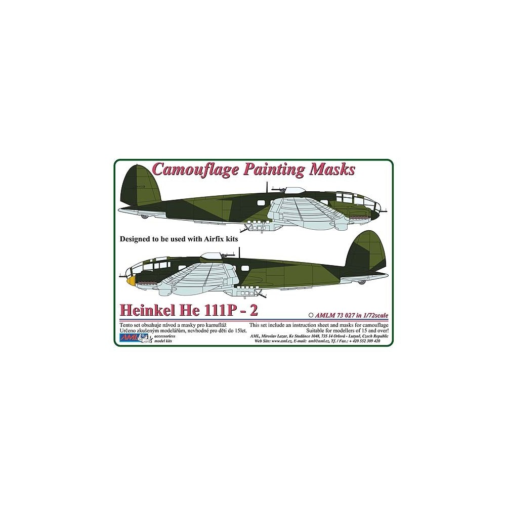 Heinkel He 111P-2  - Camouflage Painting  Masks