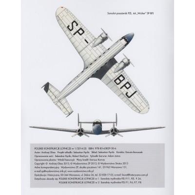 """Samoloty pasaźerskie PZL 4, 27, 44 """"Wicher"""""""