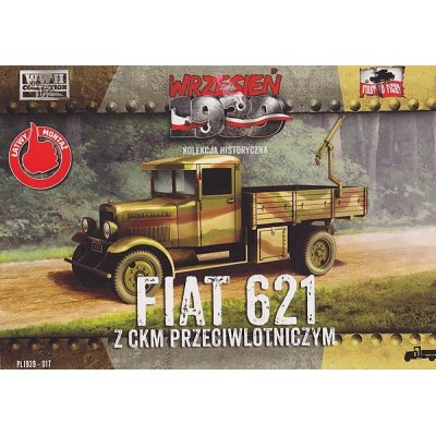 Polish Fiat 621  truck with anti-aircraft machine gun