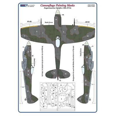 S.Spitfire Mk.XVIe - Camouflage Painting  Masks