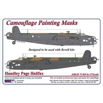 Handley Page Halifax Mk.II - Camouflage Painting  Masks