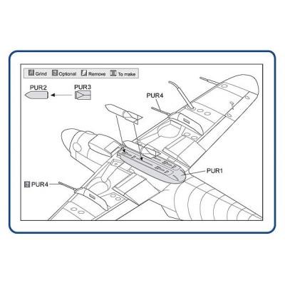 Avia S-199 bomb rack 4xETC 50 & 2xSC70bombs