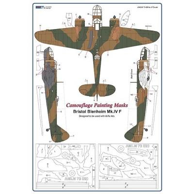 Bristol Blenheim Mk.IV - Camouflage Painting  Masks