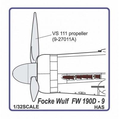Fw 190 D-9  propeller VS-111